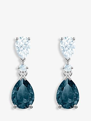 Swarovski Vintage Crystal Teardrop Drop Earrings