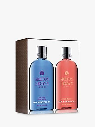 Molton Brown Inspiring Wild Indigo & Sensual Hanaleni Bath & Shower Gel Duo
