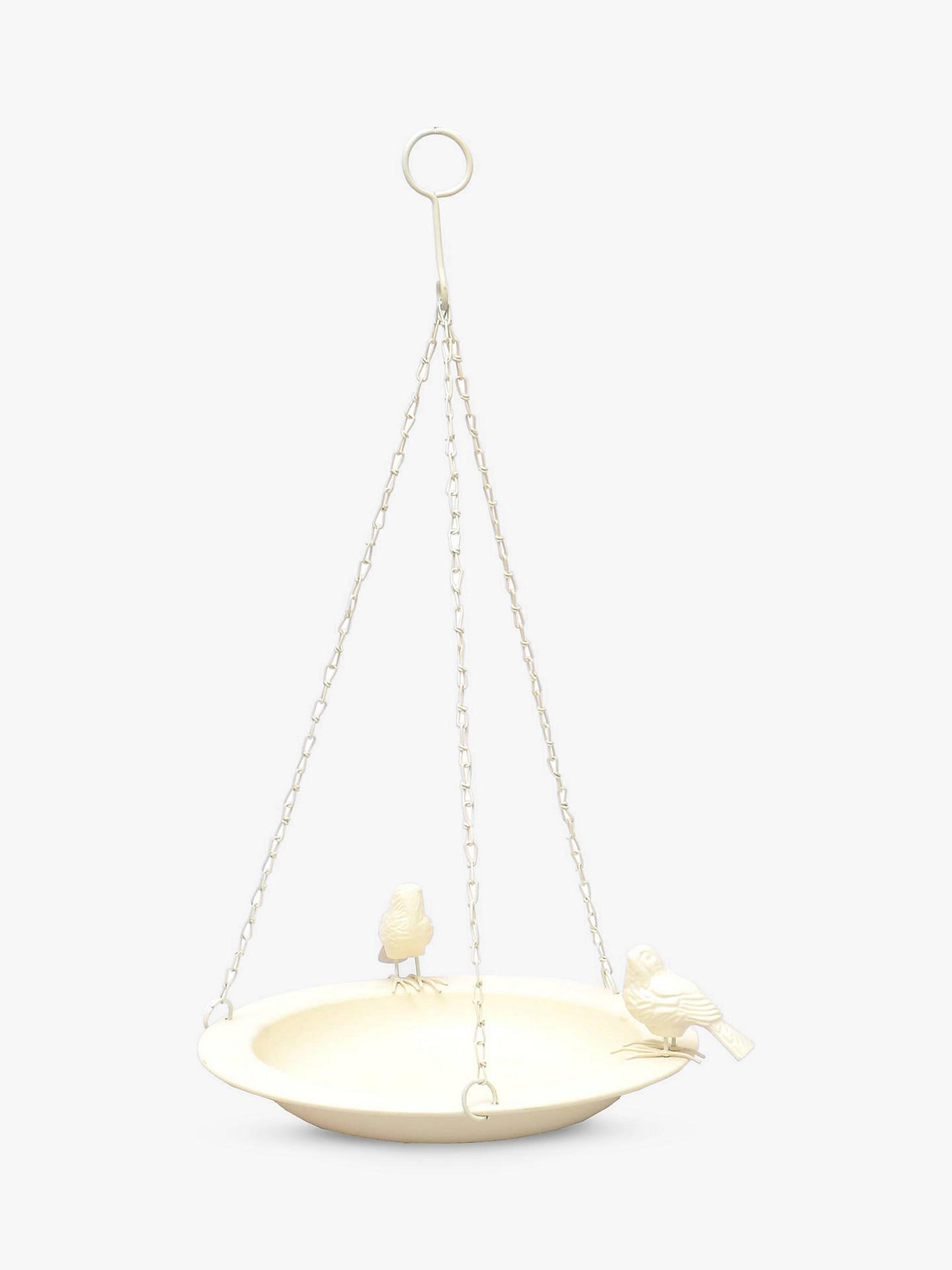 Ivyline Cast Iron Hanging Bird Bath, Cream by Ivyline