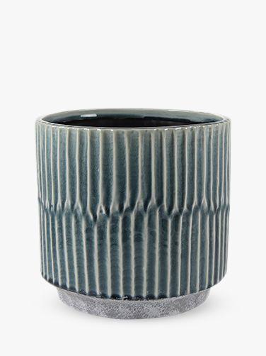 Ivyline Ivyline Tribal Onno Indoor Plant Pot, Denim, 20cm