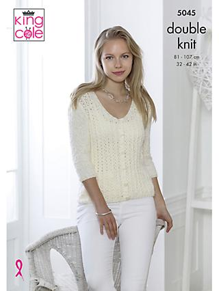 16961b26ab2277 King Cole Calypso DK Women s Cardigan and Jumper Knitting Pattern