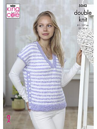 63026a7d0777 King Cole Calypso DK Women s Cardigan and Tank Top Knitting Pattern
