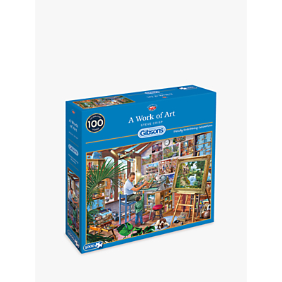 Image of Gibsons Artist's Studio Jigsaw Puzzle, 1000 pieces