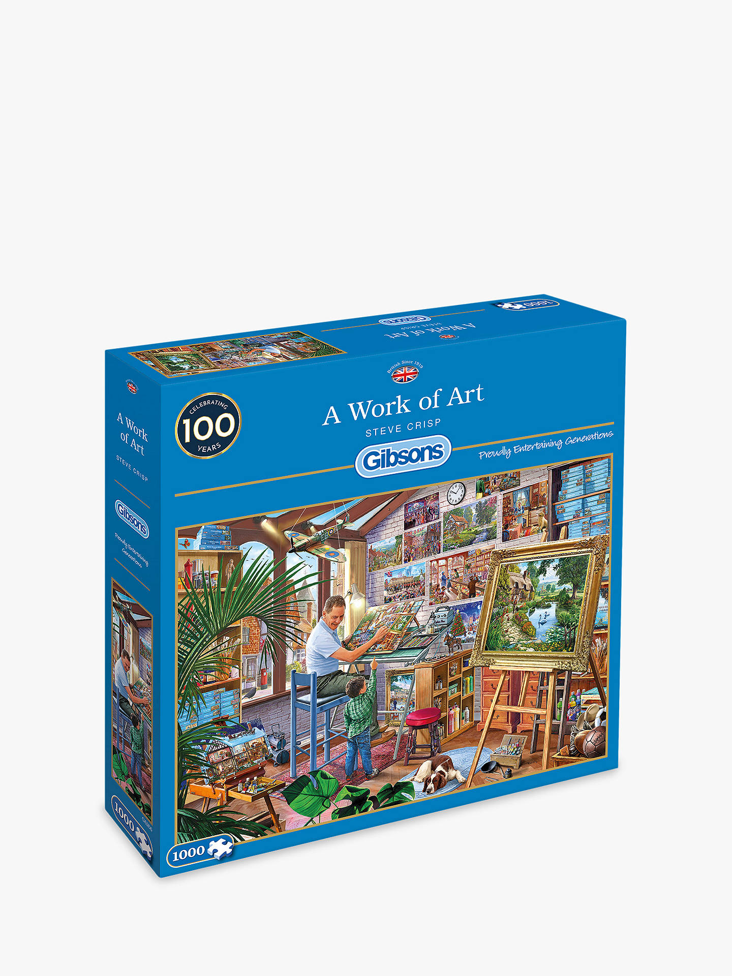 f071a54c5dd4 Buy Gibsons Artist's Studio Jigsaw Puzzle, 1000 pieces Online at johnlewis.  ...