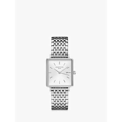 ROSEFIELD Women s The Boxy Date Bracelet Strap Watch - John Lewis    Partners at Westquay - Shop Online bc8cd7dec6