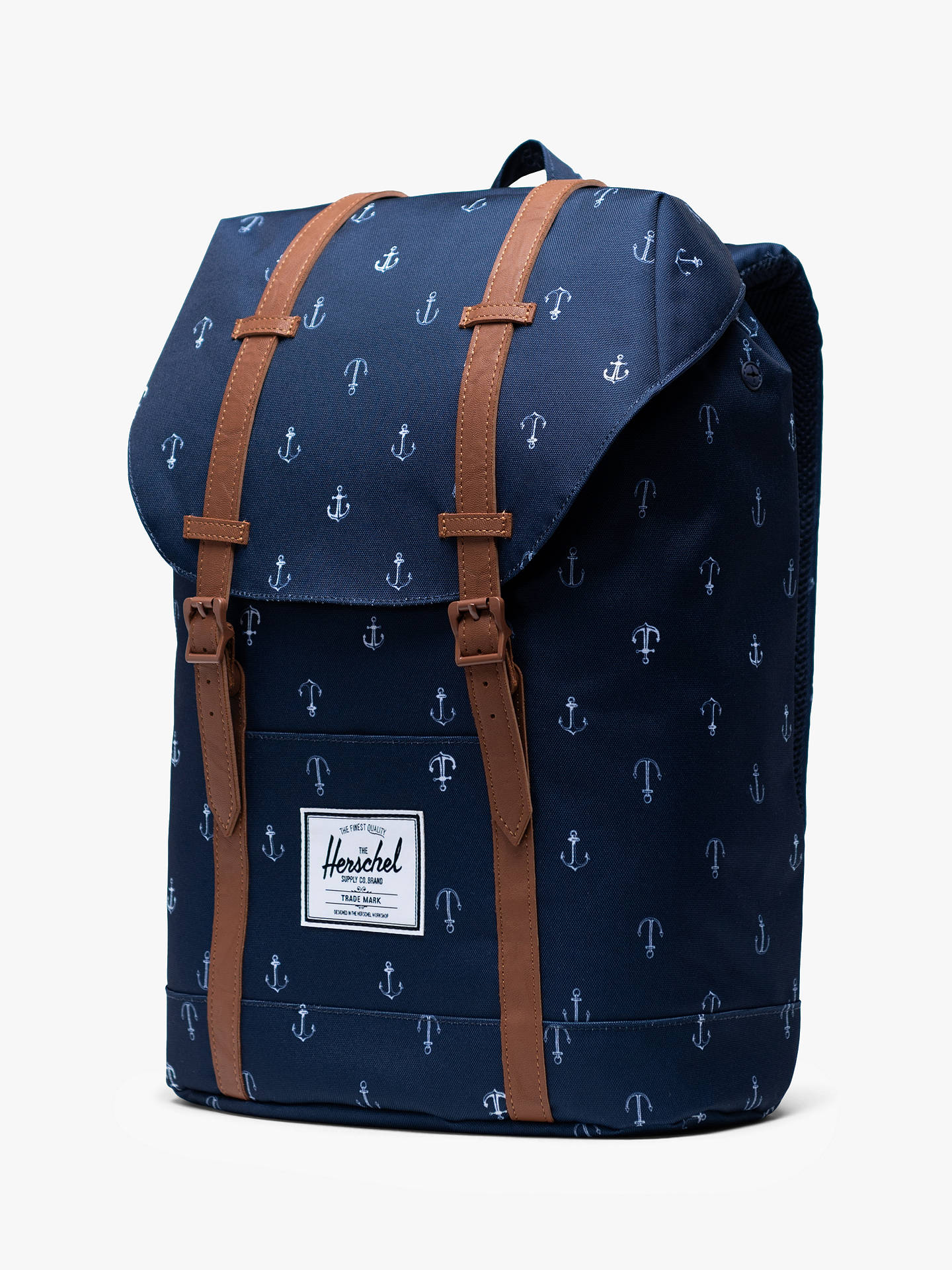Herschel Supply Co  Retreat Anchor Print Backpack, Peacoat/Anchor