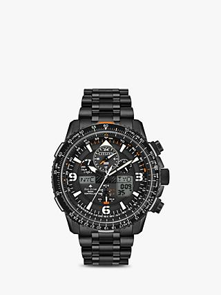 0c1f3c31936e Citizen JY8075-51E Men s Promaster Skyhawk AT Chronograph Eco-Drive  Bracelet Strap Watch