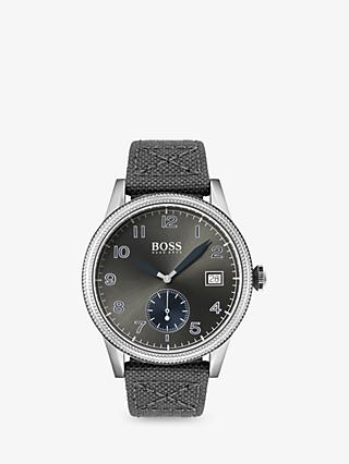 the latest 75dcb fb7c7 HUGO BOSS 1513683 Mens Legacy Date Leather Strap Watch, ...