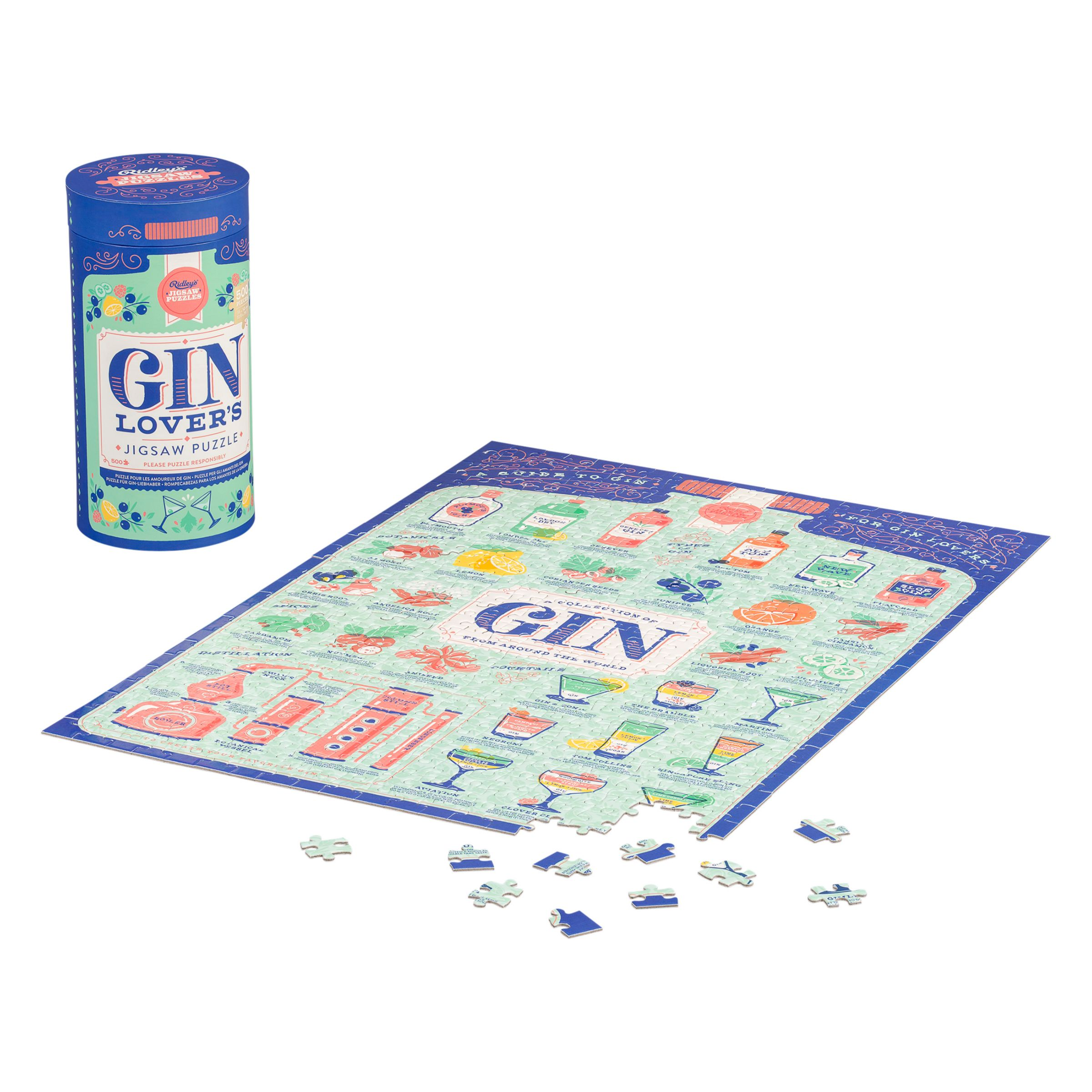 Ridley's Ridleys Gin Lover Jigsaw Puzzle, 500 pieces