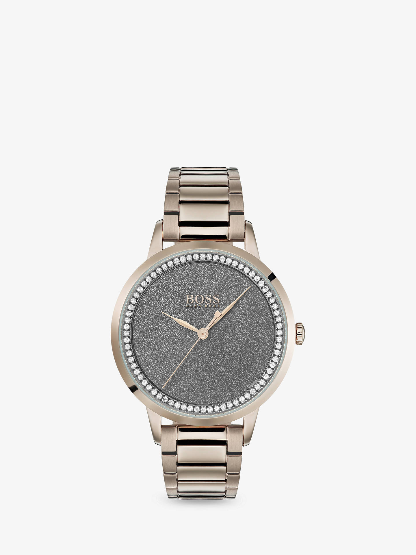 2c1ca708a Buy HUGO BOSS 1502463 Women's Twilight Swarovski Crystal Bracelet Strap  Watch, Gold/Grey Online ...