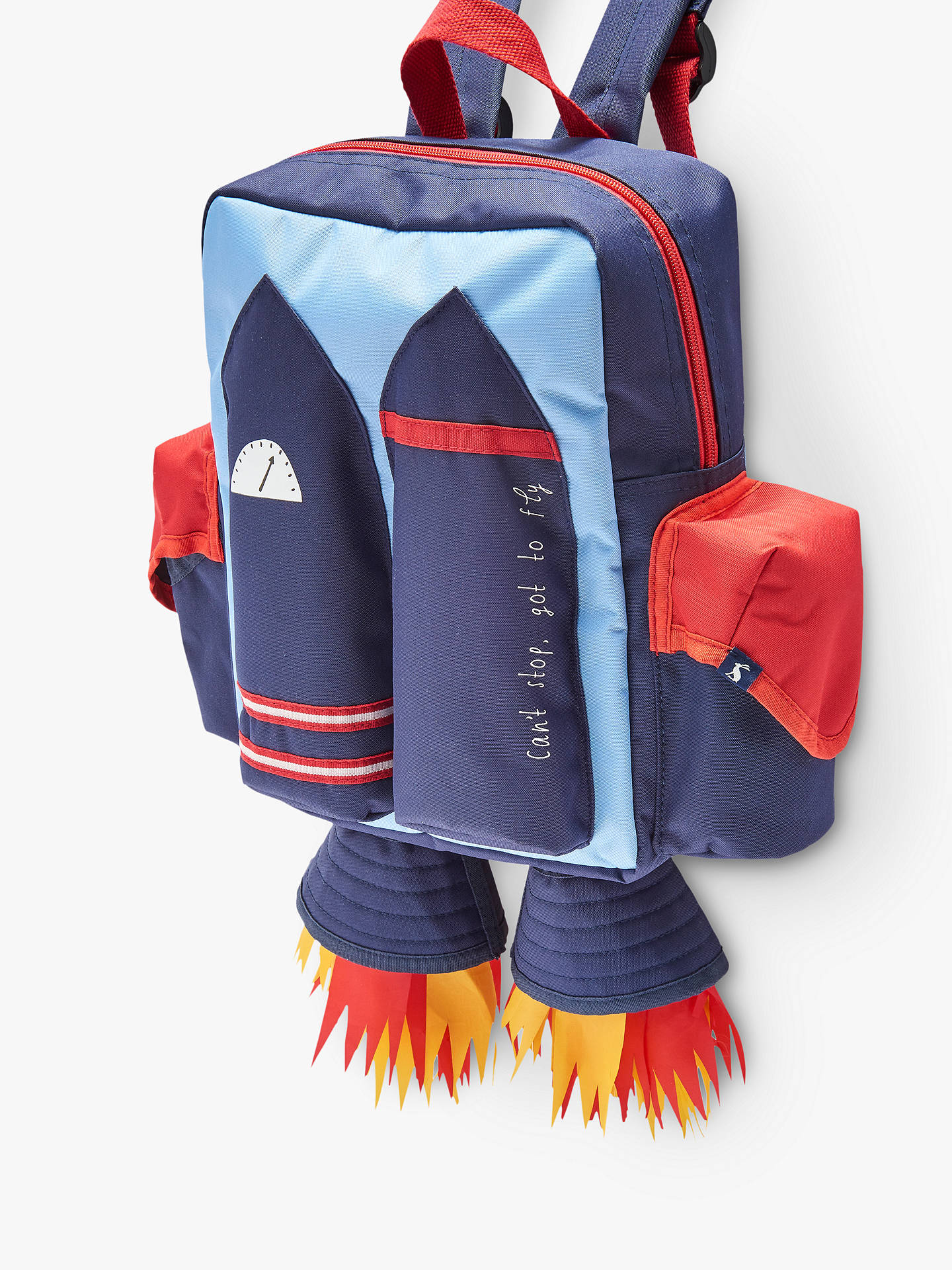 Buy Joules Rocket Novelty Backpack, Blue Online at johnlewis.com