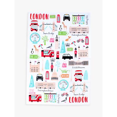 Milly Green London Adventures Tea Towel