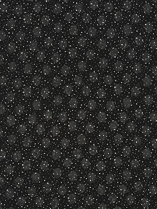 Kokka Textured Circles Print Fabric, Black
