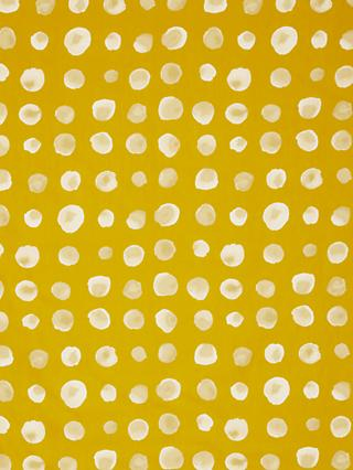 Kokka White Ink Spot Print Fabric, Yellow