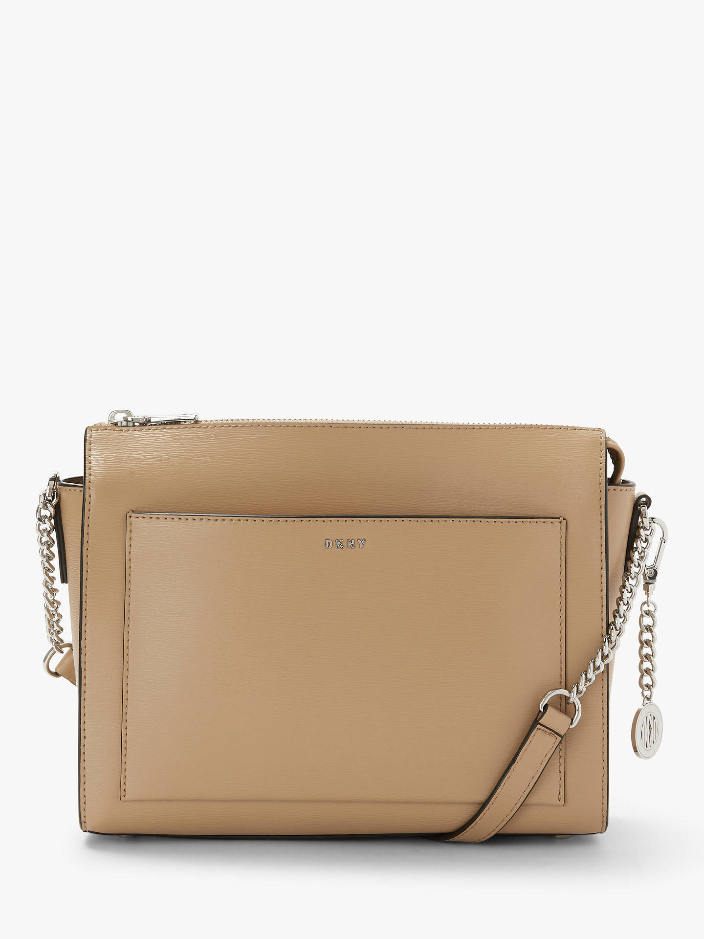 a374f4541 Buy DKNY Bryant Sutton Medium Leather Zip Top Cross Body Bag, Latte Online  at johnlewis ...
