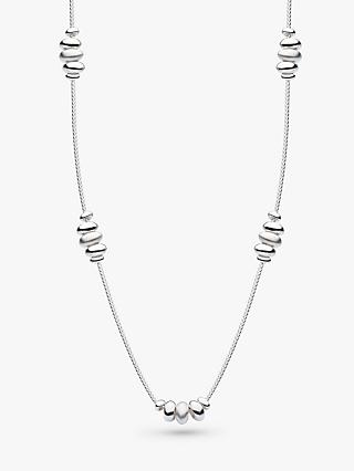Kit Heath Pebble Chain Necklace, Silver