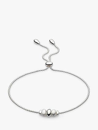 Kit Heath Triple Pebble Slider Chain Bracelet, Silver