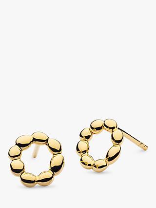 502f6b995 Kit Heath Sterling Silver Bobble Circle Earrings, Yellow Gold