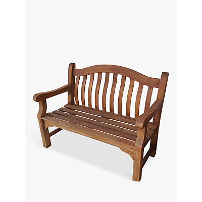 LG Outdoor Hanoi Homestead Wren 2-Seat Slatted Bench, FSC-Certified (Eucalyptus Wood)