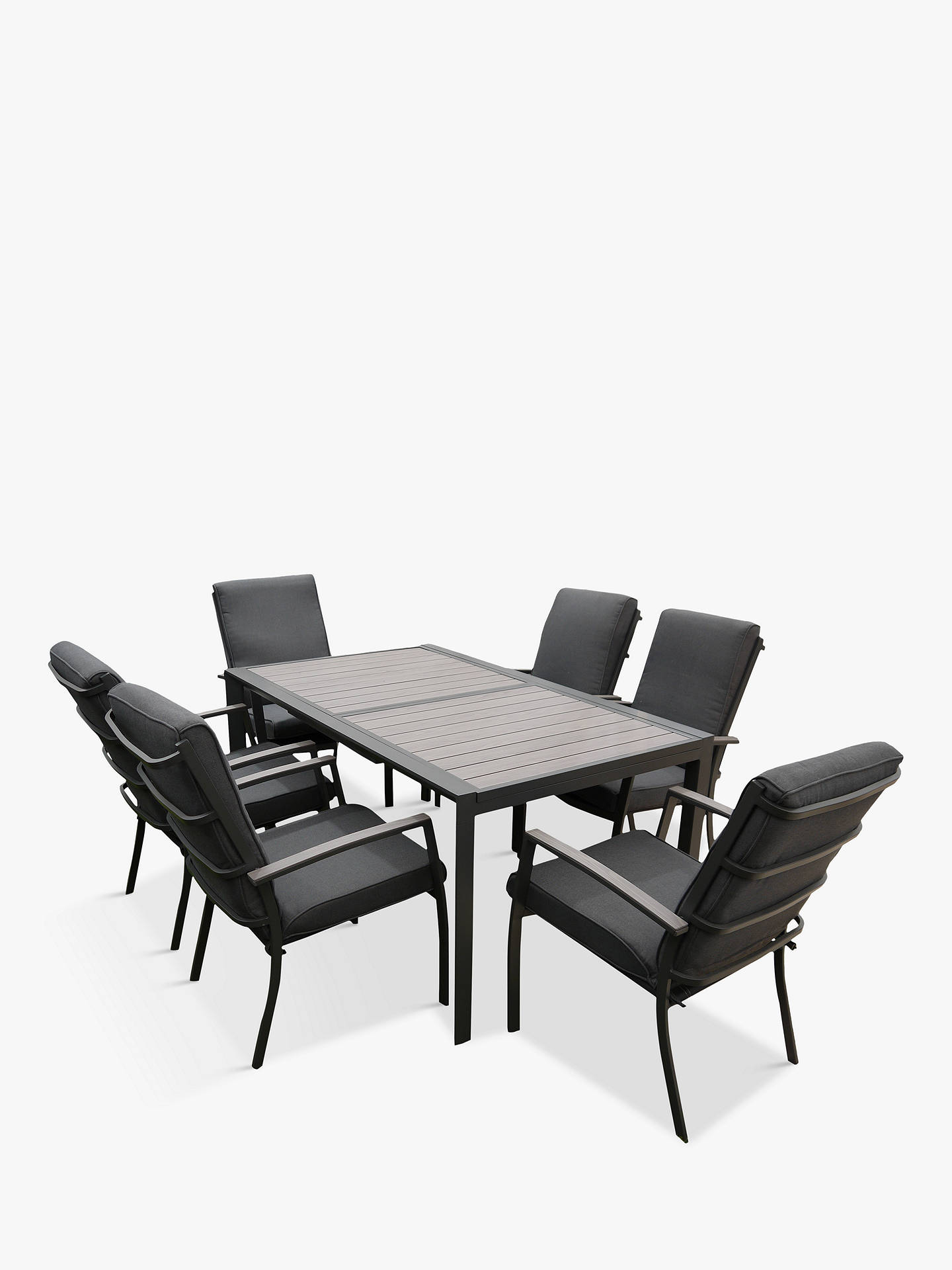 LG Outdoor Milan 10-Seat Extendable Garden Table and Chairs Dining