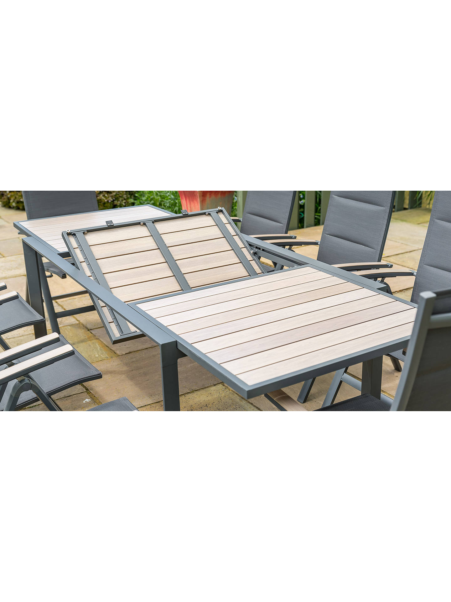 LG Outdoor Milan 8-Seat Extendable Garden Table and Chairs Dining