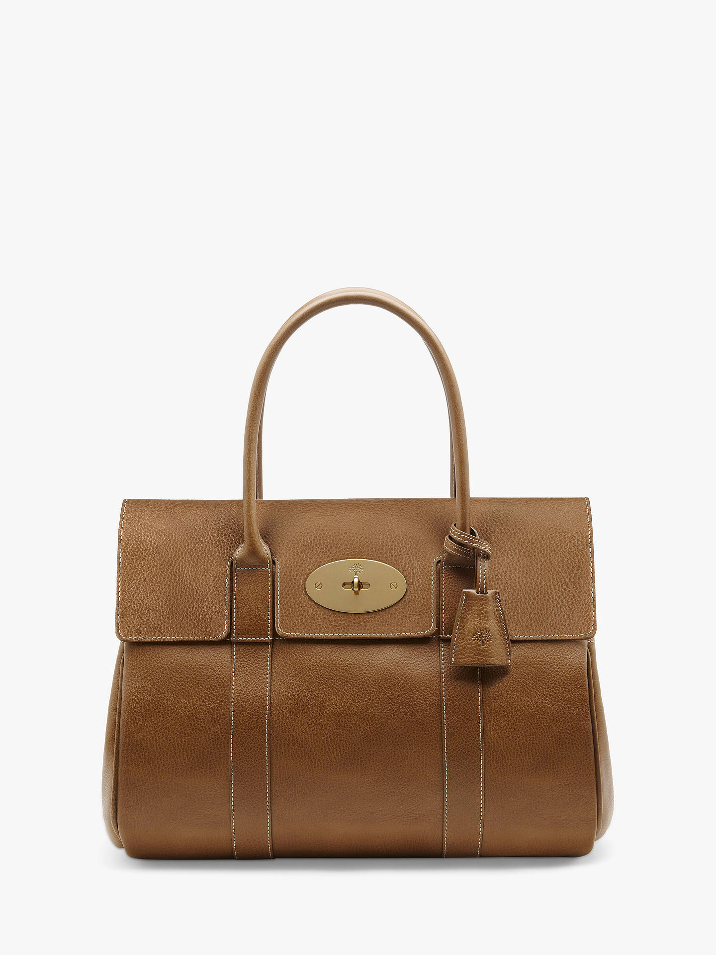 096073c6703 BuyMulberry Bayswater Heritage Natural Veg Tanned Leather Handbag,  Oak Brass Online at johnlewis.