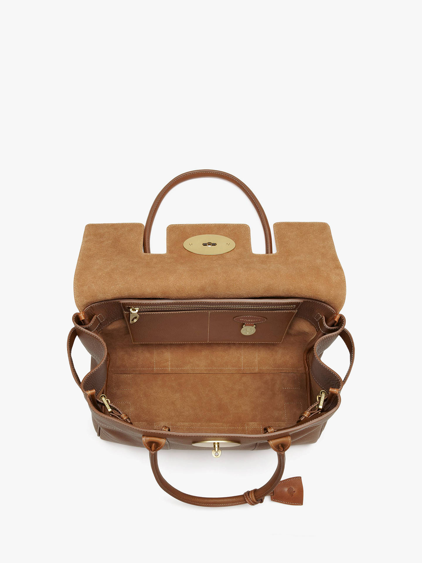 Mulberry Bayswater Heritage Natural Veg Tanned Leather Handbag at ... d2e65eb735e