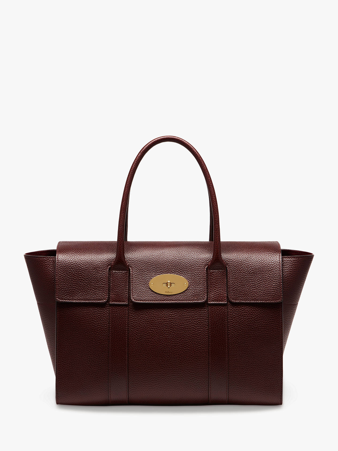 Mulberry Bayswater New Grain Veg Tanned Leather Handbag at John ... 3fd688a1d365a