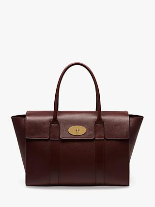 Mulberry Bayswater New Grain Veg Tanned Leather Handbag