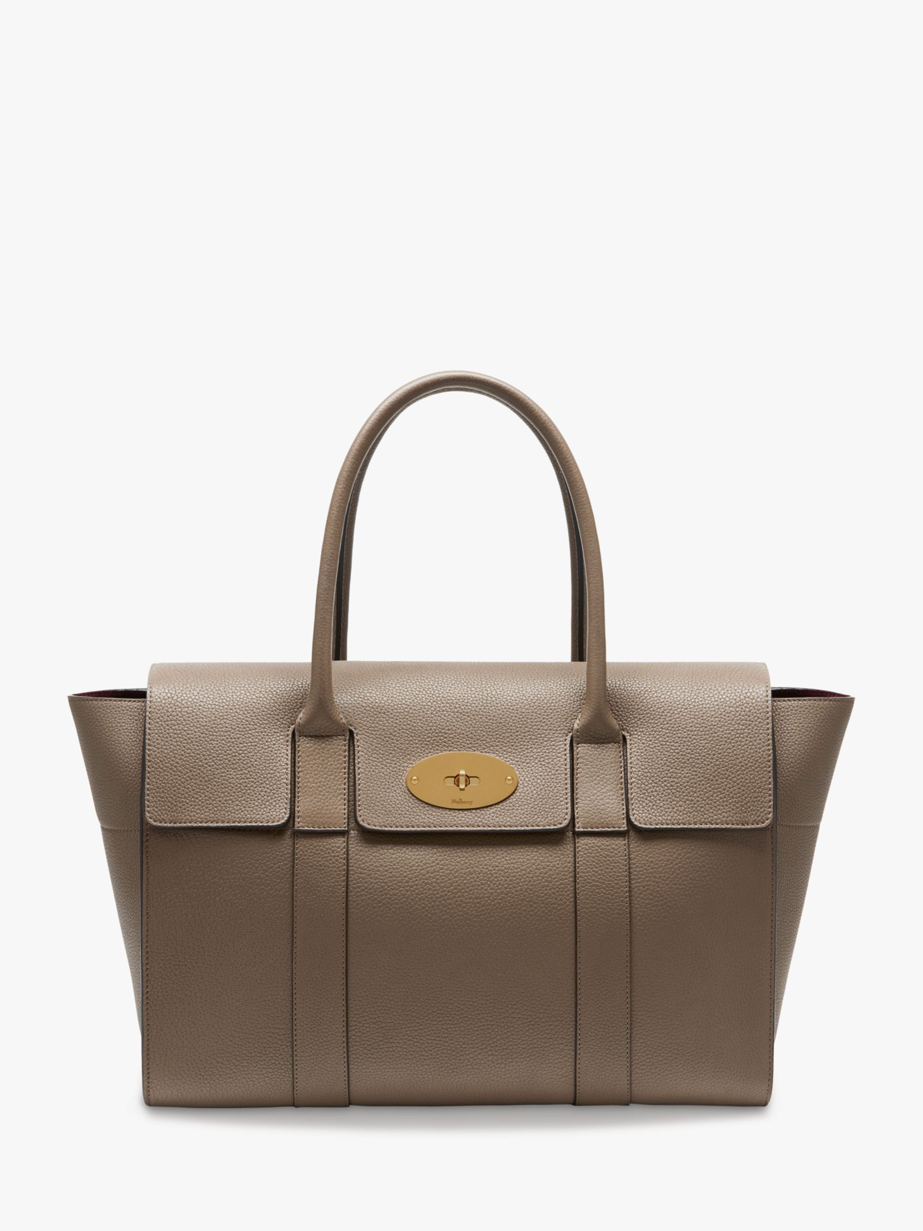 65c360d99d Mulberry Bayswater New Small Classic Grain Leather Handbag at John Lewis &  Partners