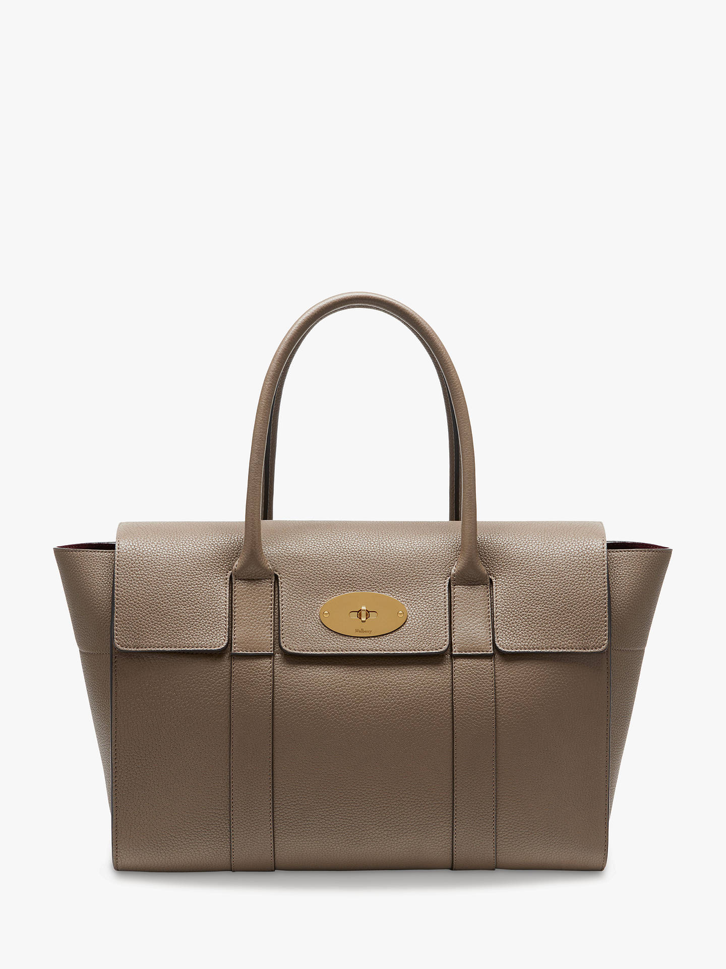 1dba4b43257 BuyMulberry Bayswater New Small Classic Grain Leather Handbag, Clay Online  at johnlewis.com ...
