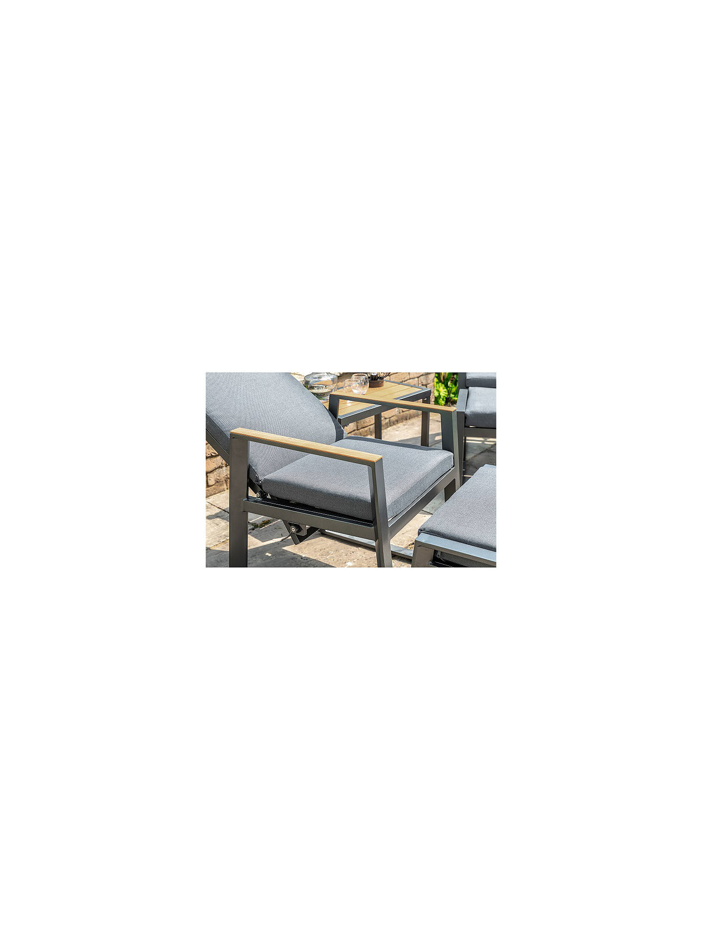 Buy LG Outdoor Roma 2-Seat Garden Table & Reclining Chairs Relaxing Set, Anthracite Grey Online at johnlewis.com