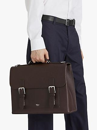Mulberry Chiltern Grain Veg Tanned Leather Buckle Briefcase