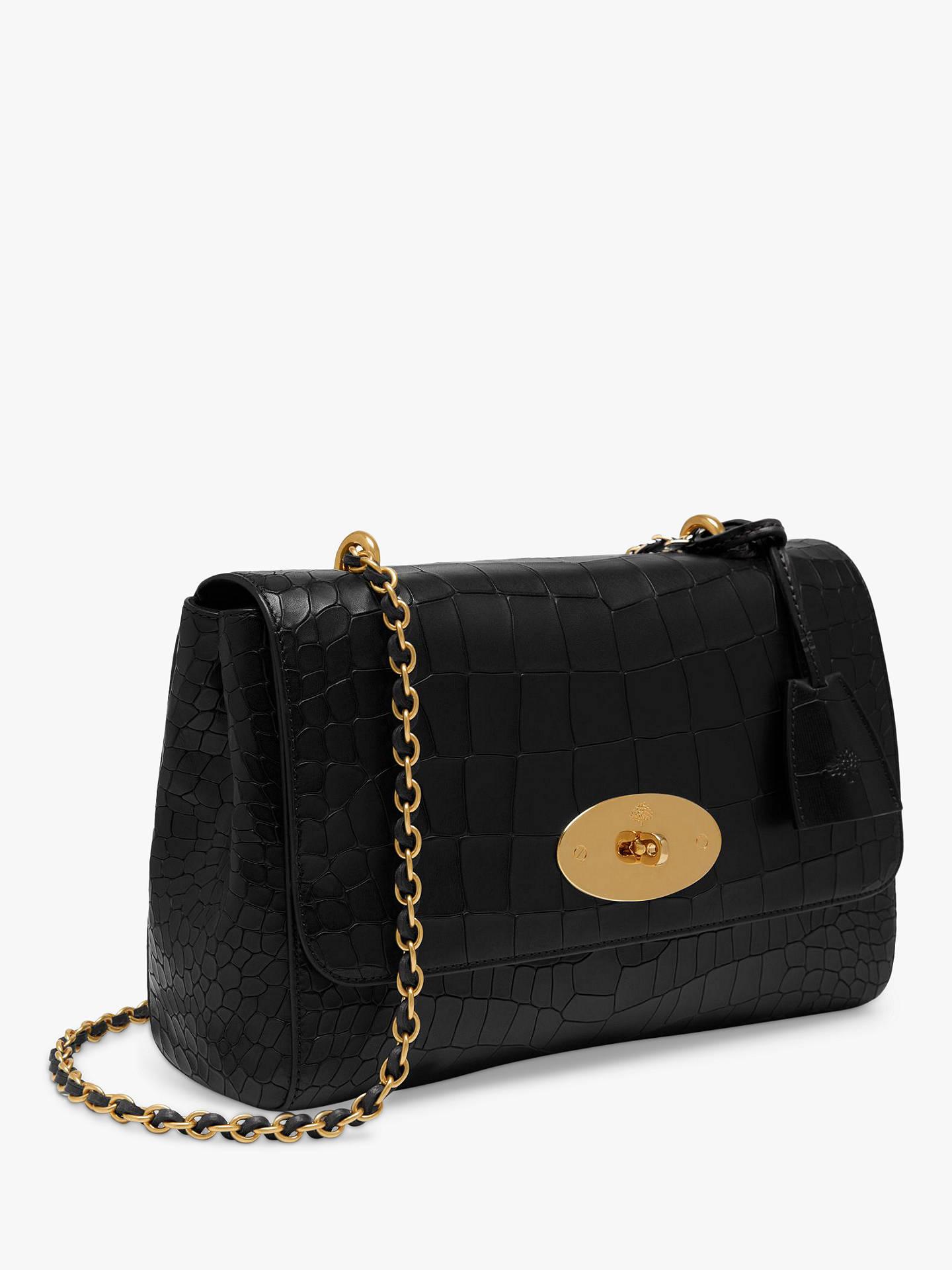 ddc04d46233b ... BuyMulberry Medium Lily Croc Embossed Leather Shoulder Bag
