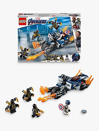 LEGO Marvel Avengers 76123 Outriders Attack Captain America's Motorcycle