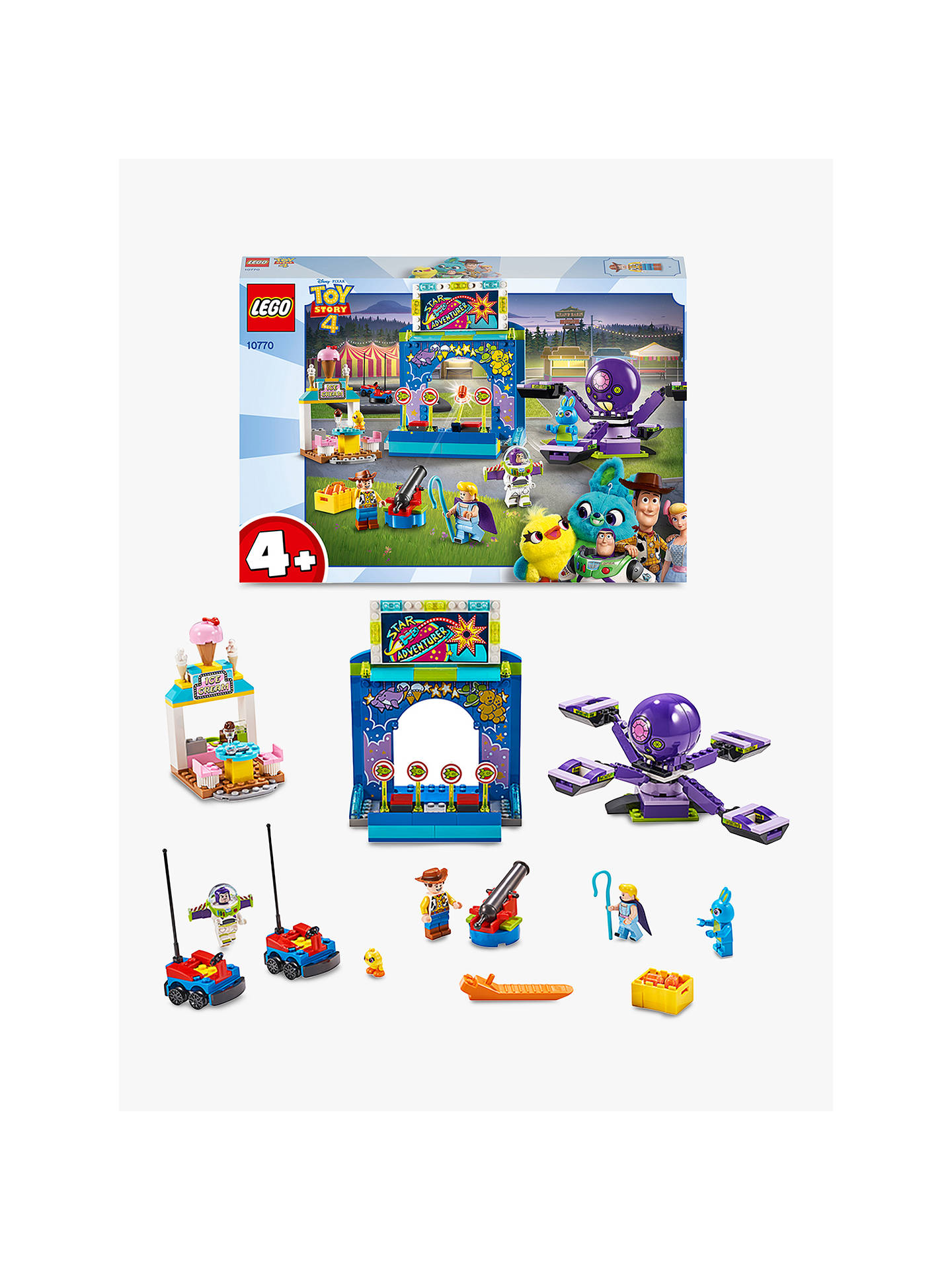 Lego Toy Story 4 10770 Buzz And Woody S Carnival Mania At John Lewis