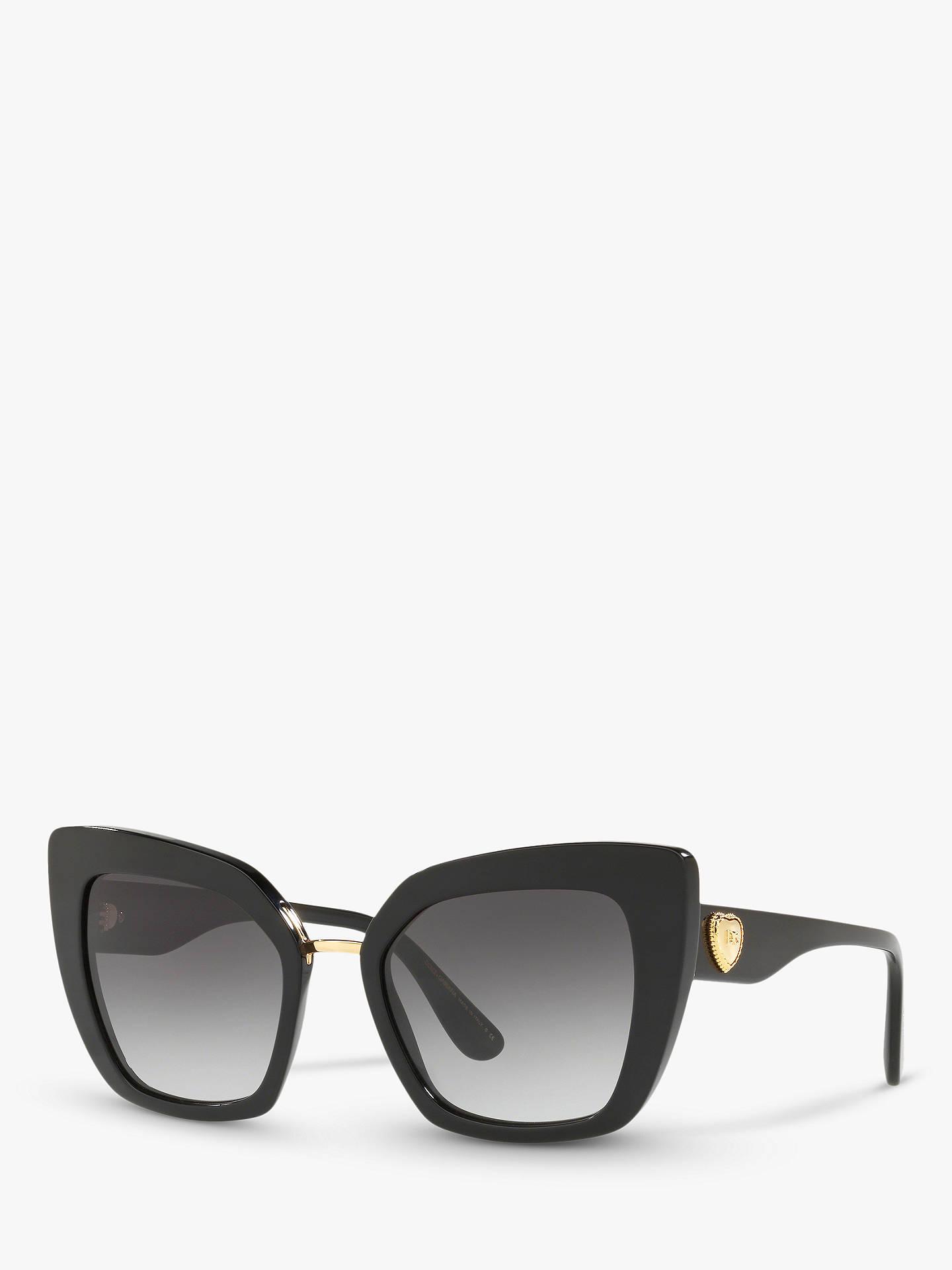 181a2e7f7d22 Buy Dolce & Gabbana DG4359 Women's Cat's Eye Sunglasses, Black/Grey Gradient  Online at ...