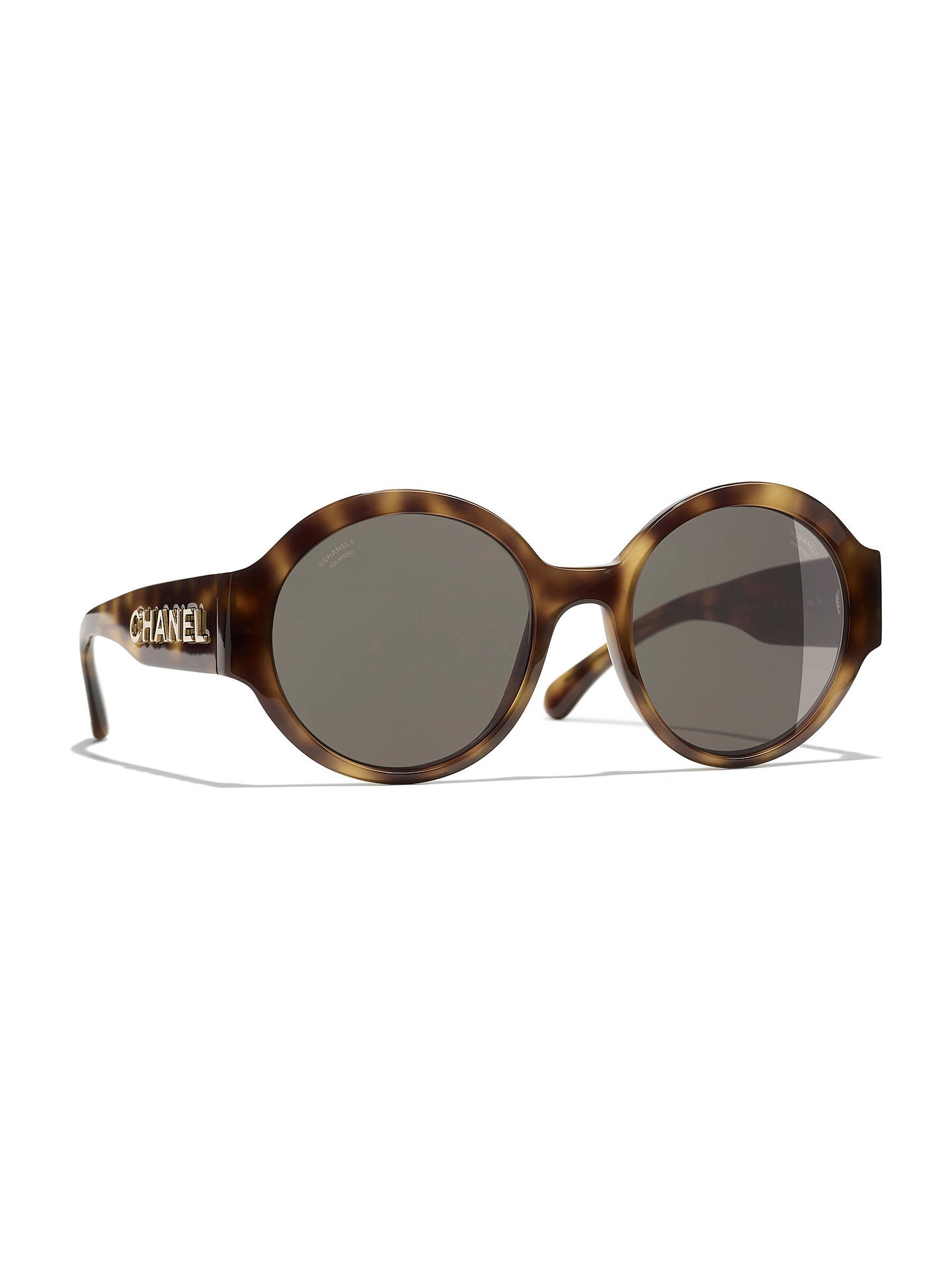 92bb24d47aee9 Buy CHANEL Oval Sunglasses CH5410 Havana Brown Online at johnlewis.com ...