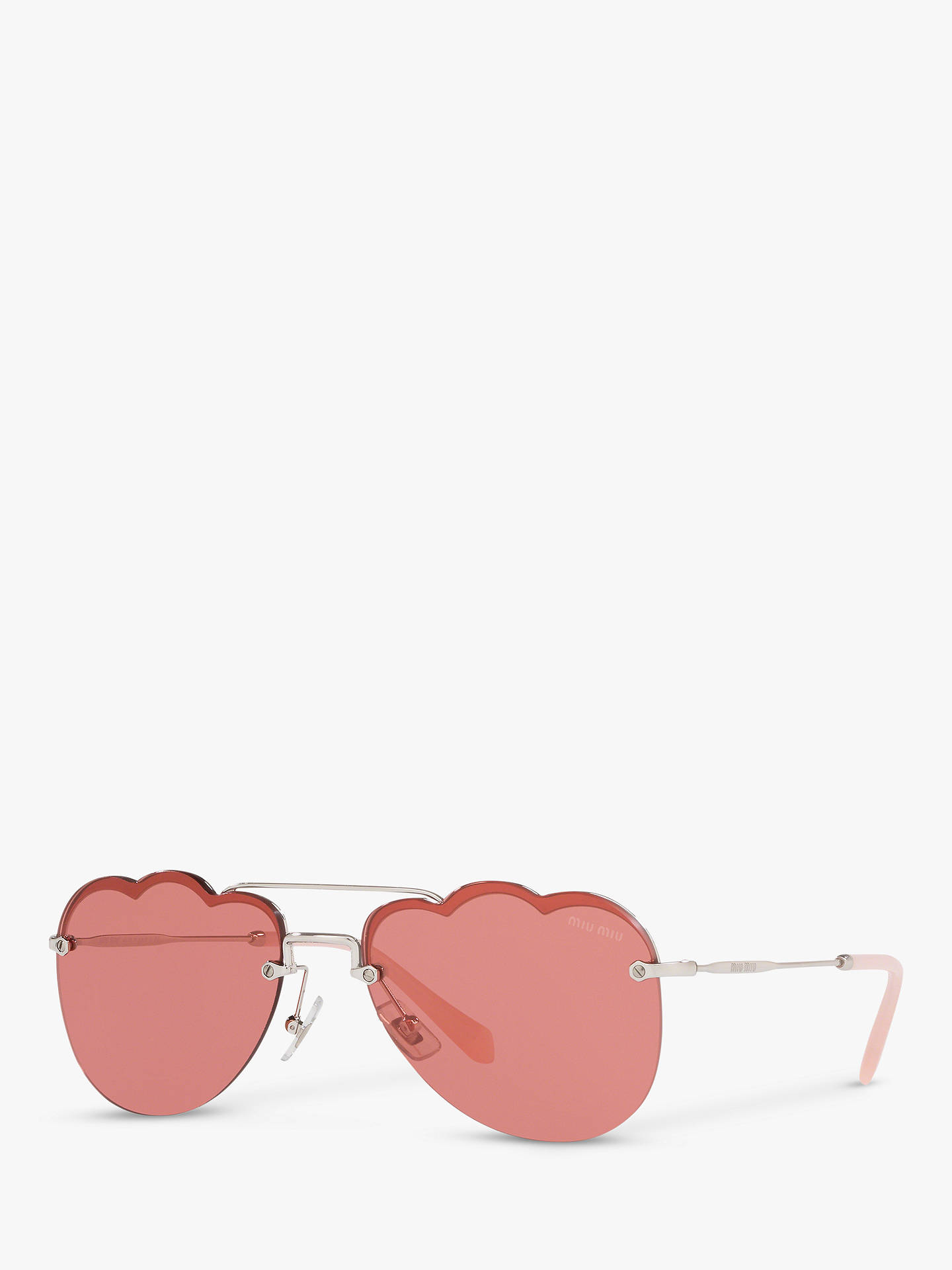 a68b664d0c9 Buy Miu Miu MU 56US Women s Scalloped Aviator Sunglasses