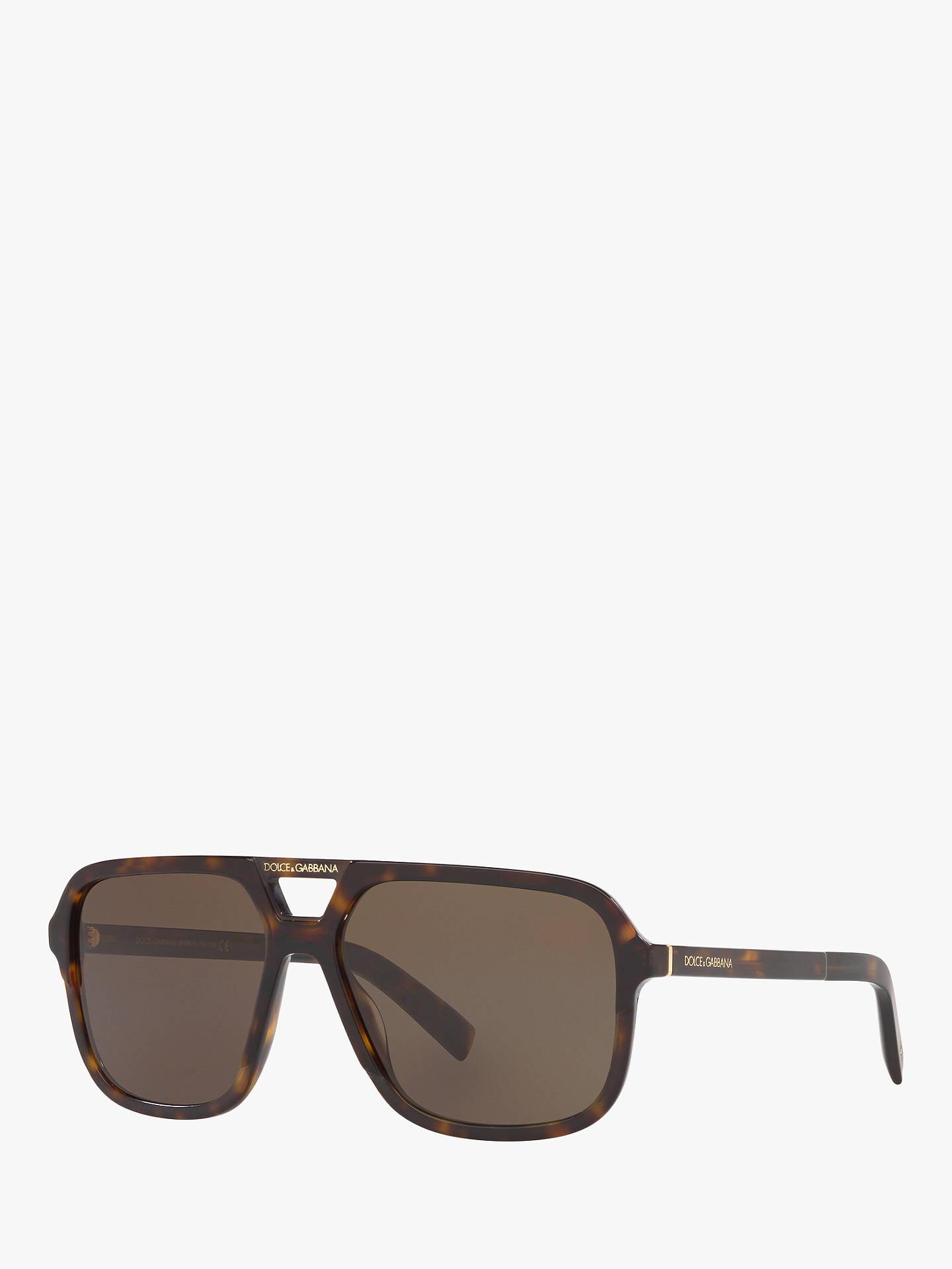 5918c2744 Buy Dolce & Gabbana DG4354 Women's Aviator Sunglasses, Brown/Brown Online  at johnlewis.