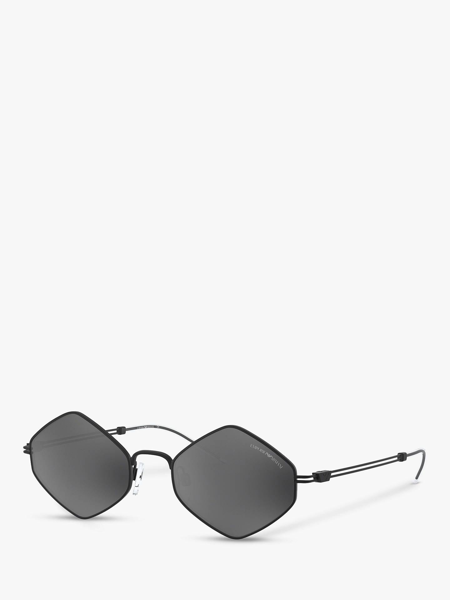 Men's Irregular Emporio Ea2085 Armani Oval SunglassesBlackgrey rCxBdoe