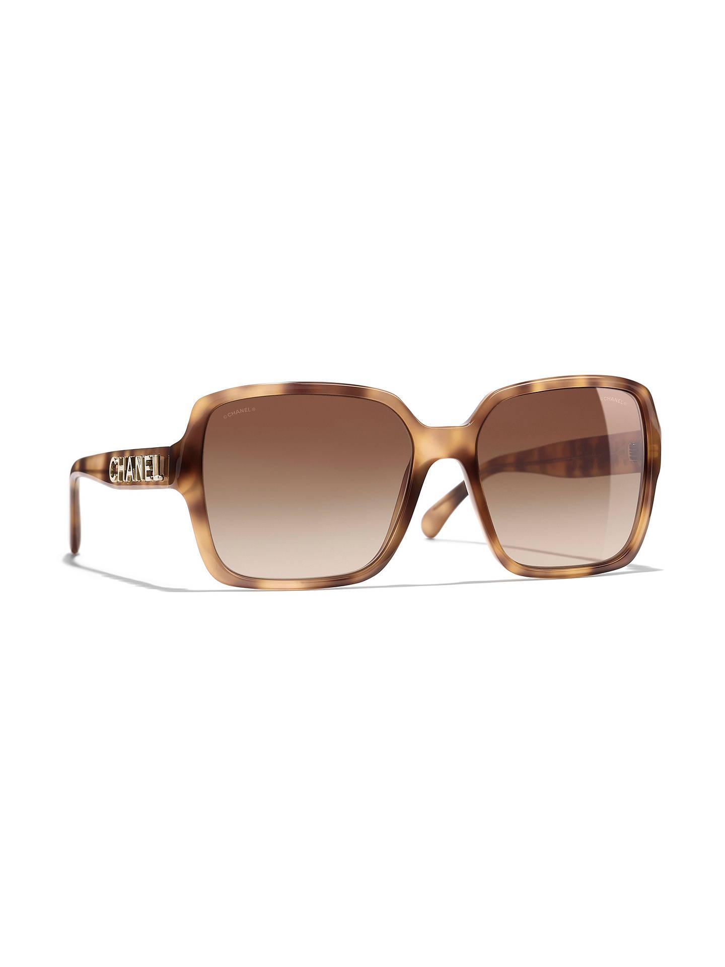 3b41ae8f21 Buy CHANEL Rectangular Sunglasses CH5408 Yellow Havana Brown Gradient  Online at johnlewis.com ...