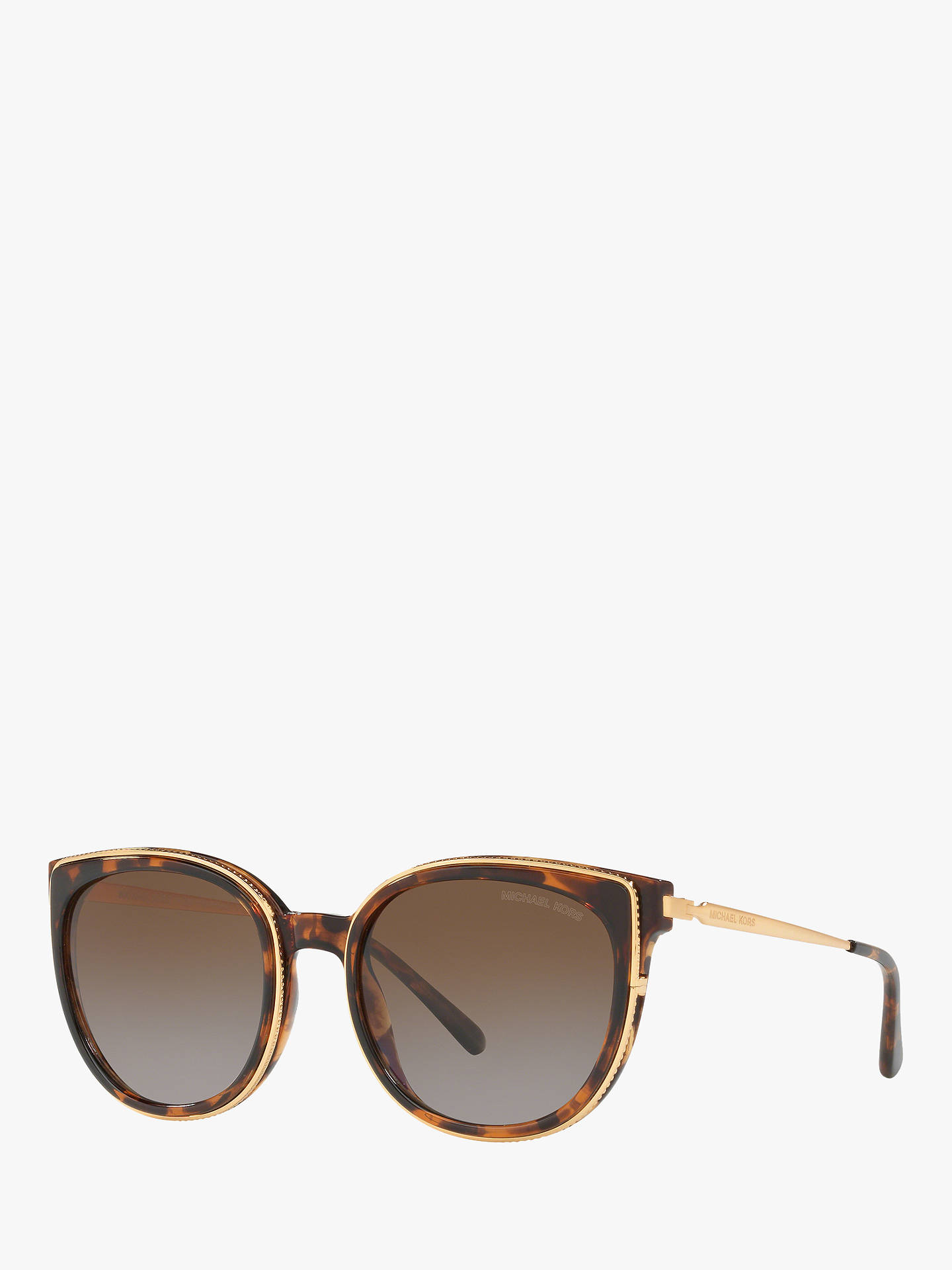 e26847ab980d Buy Michael Kors MK2089U Women's Harbour Polarised Square Sunglasses, Dark  Tortoise/Brown Gradient Online ...