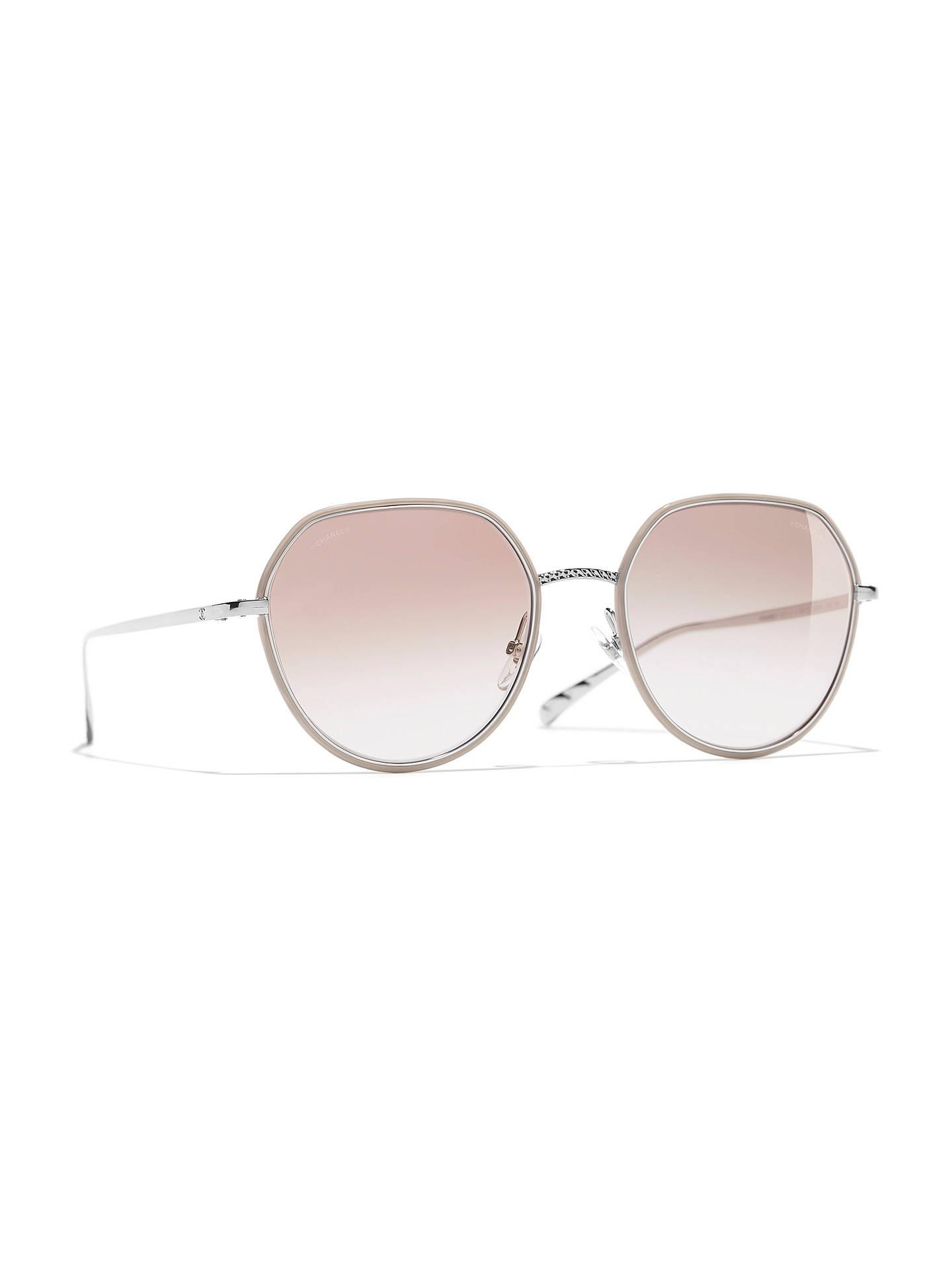 2d6035ca CHANEL Round Sunglasses CH4251J Silver/Beige Gradient