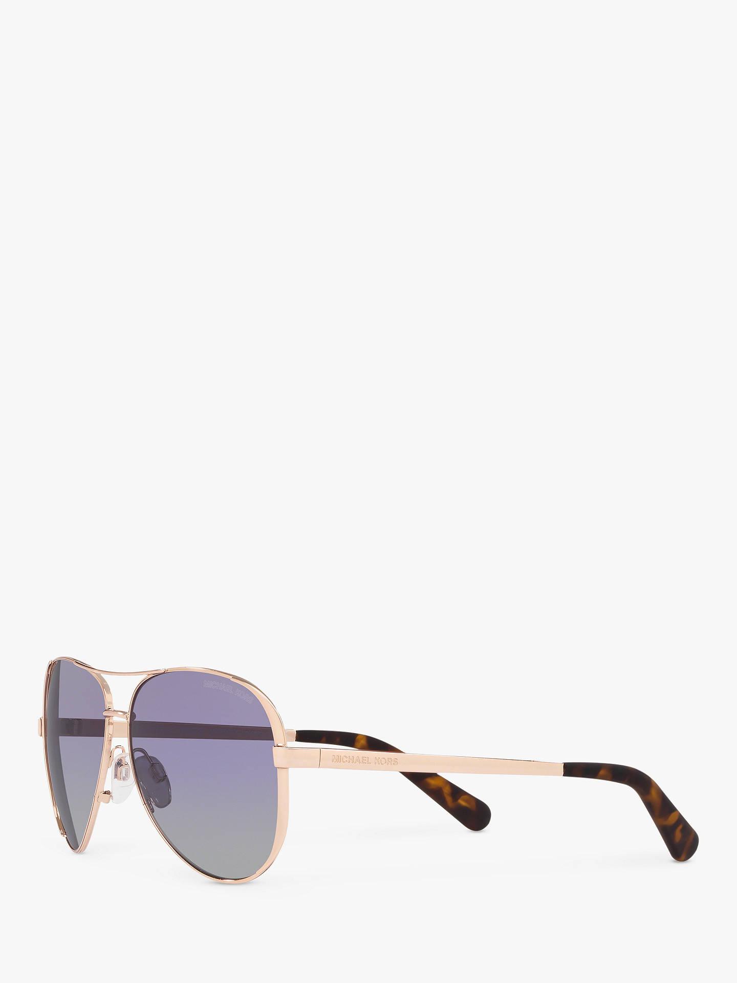 27e44a44a Buy Michael Kors MK5004 Chelsea Polarised Aviator Sunglasses, Rose Gold/ Purple Online at johnlewis ...