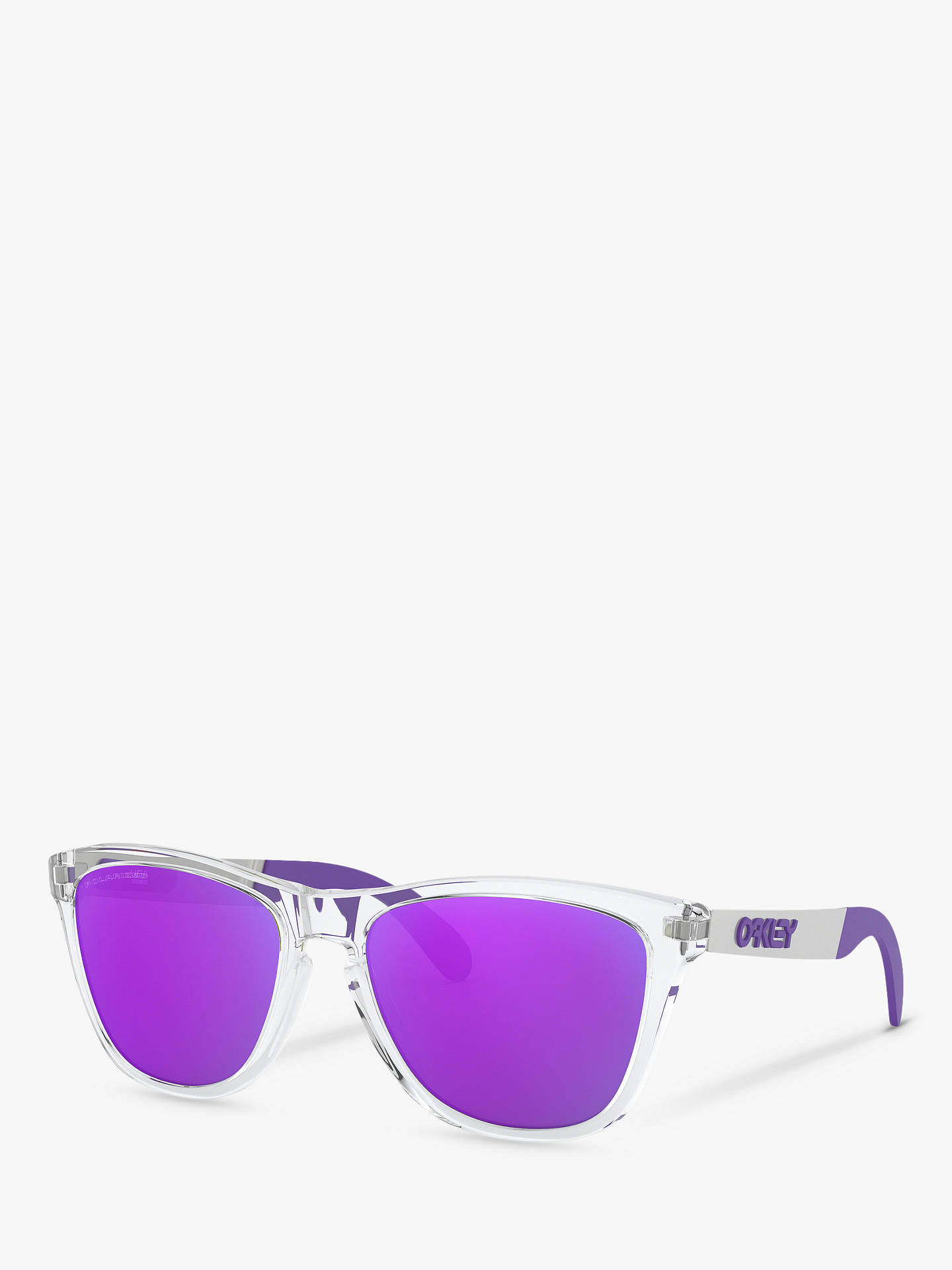 27929489d753 Buy Oakley OO9428 Men's Frogskins Polarised Square Sunglasses, Clear Mix/ Purple Online at johnlewis ...