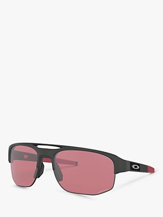 Oakley OO9424 Men's Mercenary Prizm Rectangular Sunglasses, Matte Carbon/Red