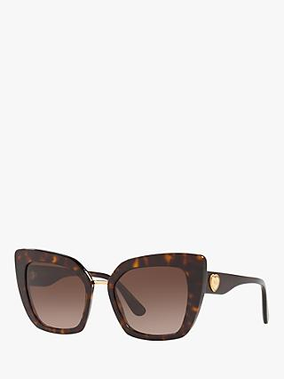 Dolce & Gabbana DG4359  Women's Cat's Eye Sunglasses, Tortoise/Havana