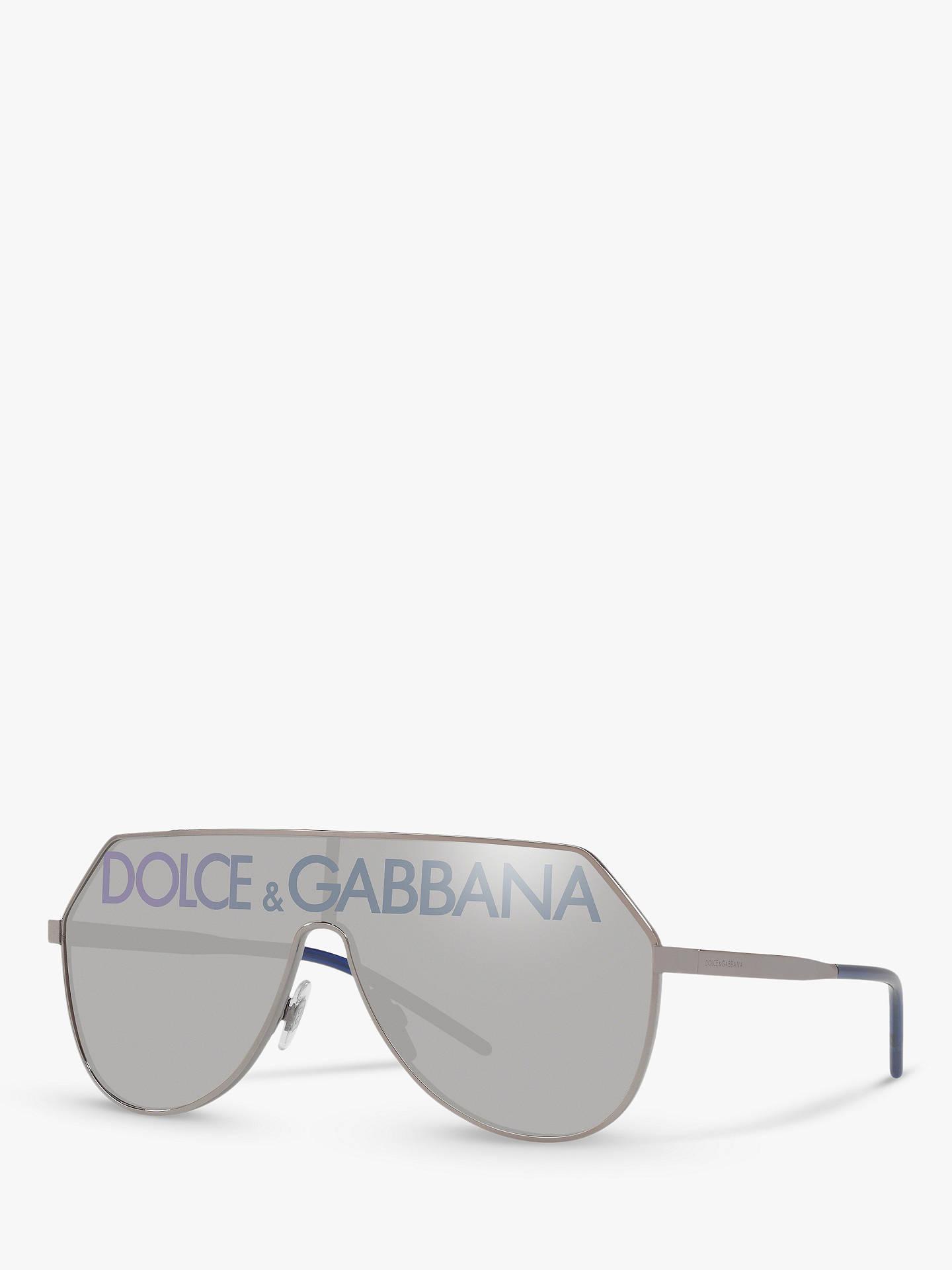 ff01b58b3c70 Dolce   Gabbana DG2221 Men s Aviator Sunglasses at John Lewis   Partners