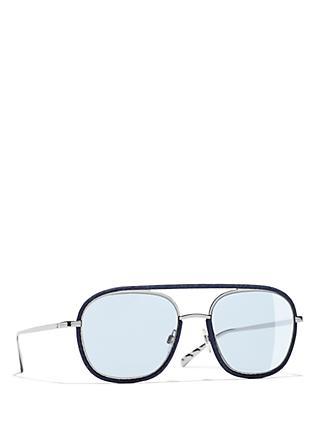 e80b4cc966fb6 CHANEL Oval Sunglasses CH4249J Silver Light Blue